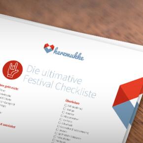 Bloß nichts vergessen! - Die ultimative Festival Checkliste