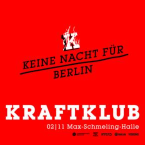 Kraftklub am 02.11.2017 in der Max-Schmeling-Halle in Berlin