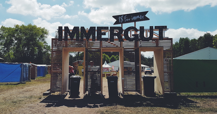 Eingang Immergut Festival 2017