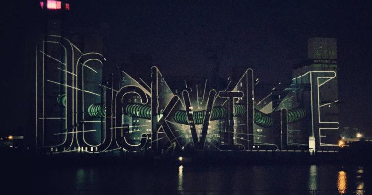 Lichtinstalation auf dem Dockville