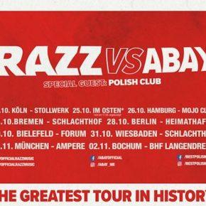 Razz + Abay am 28.10. im Heimathafen Neukölln