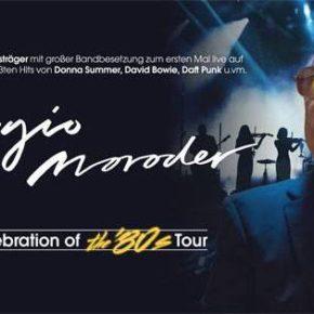 Giorgio Moroder am 12.04. im Tempodrom Berlin