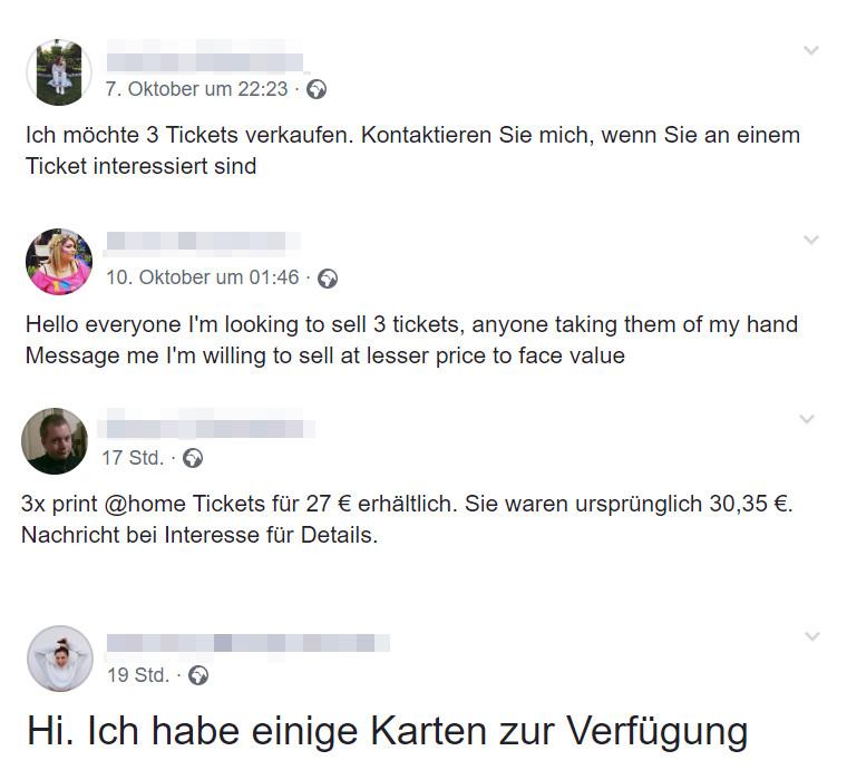 Fake ticket angebote bei facebook