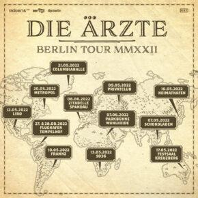 Die Ärzte gehen 2022 auf Berlin-Tour