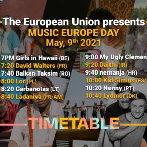 Livestream: Music Europe Day 2021 am 9. Mai